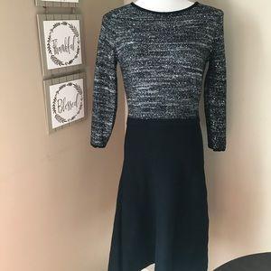 Nine West sweater dress EUC small black/silver